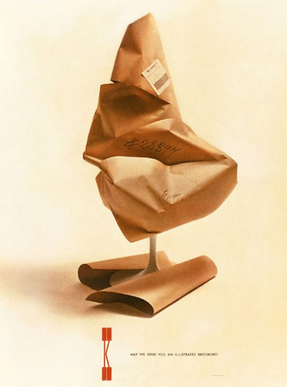 Tulip Chair Ad for Knoll, between 1946-1966